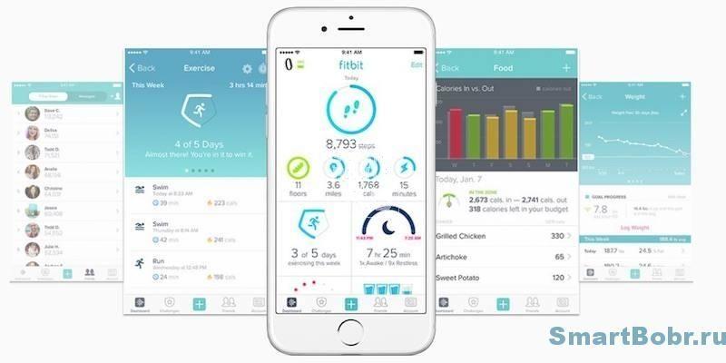 fitbit charge 2 приложение