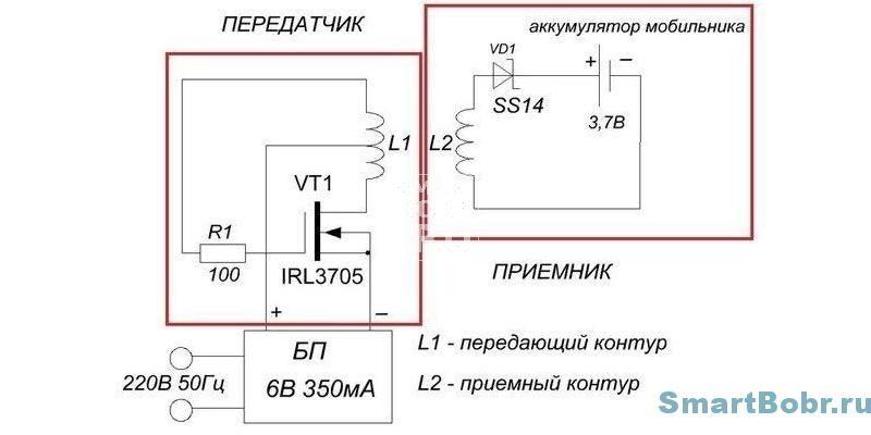 беспроводная зарядка своими руками схема