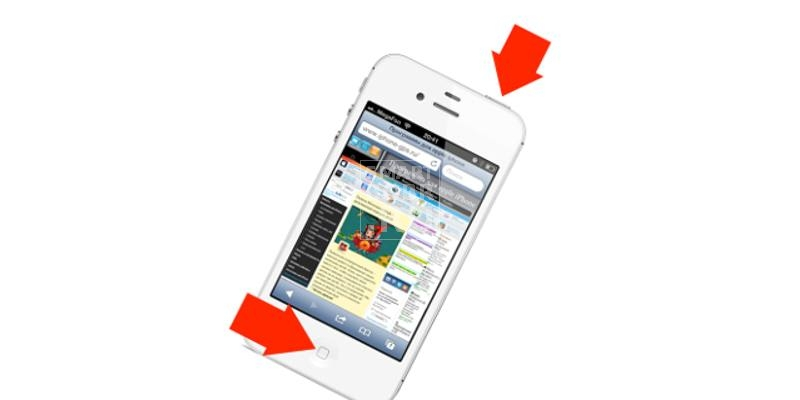 как сделать скриншот экрана iphone