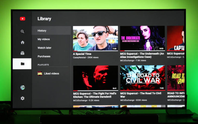 YouTube на Android TV