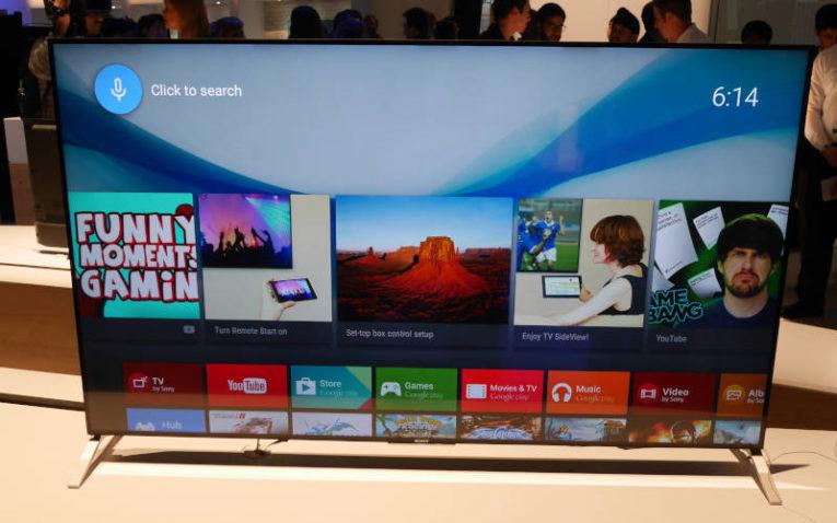 один из первых телевизоров Sony на базе Android TV