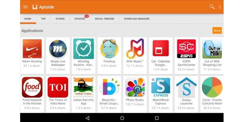 как скачать бесплатно приложения на андроид на Aptoide