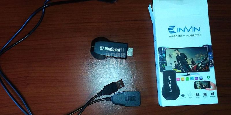 Как подключить Miracast адаптер Invin V50