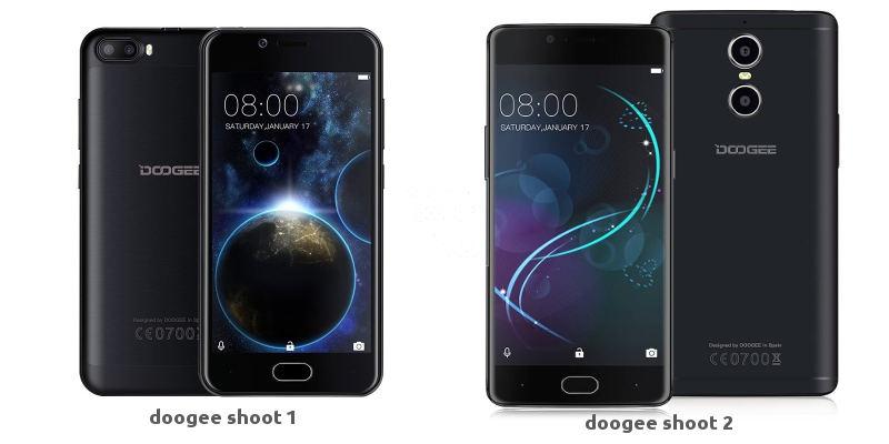 doogee shoot 1 и 2