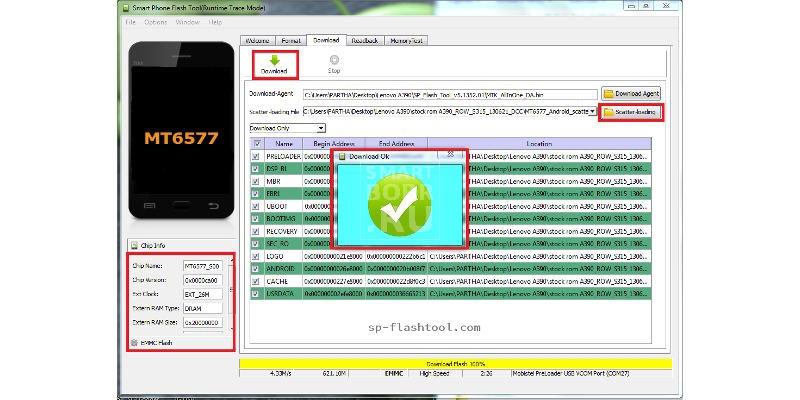 как прошить андроид sp flash tool