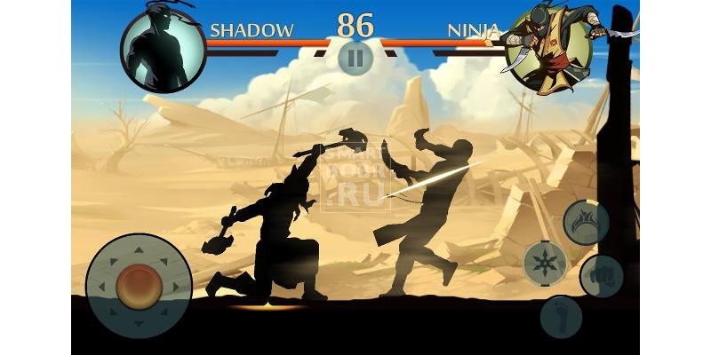 Игр на андроиде без интернета Shadow Fight 2
