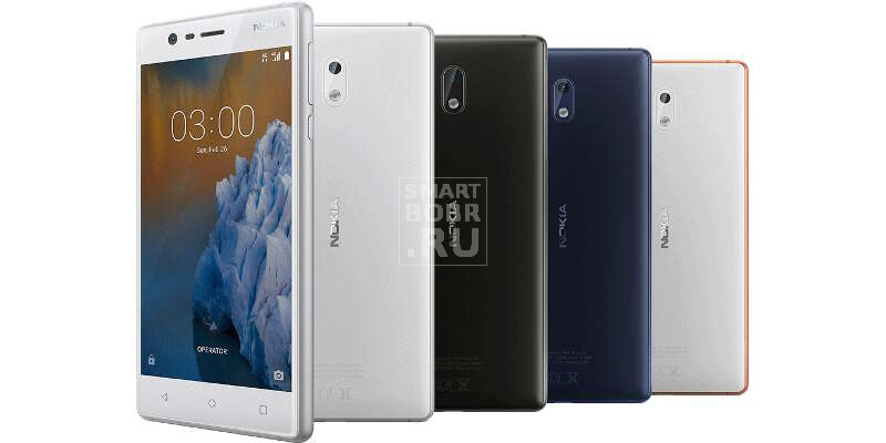 Смартфоны до 10000 рублей Nokia 3