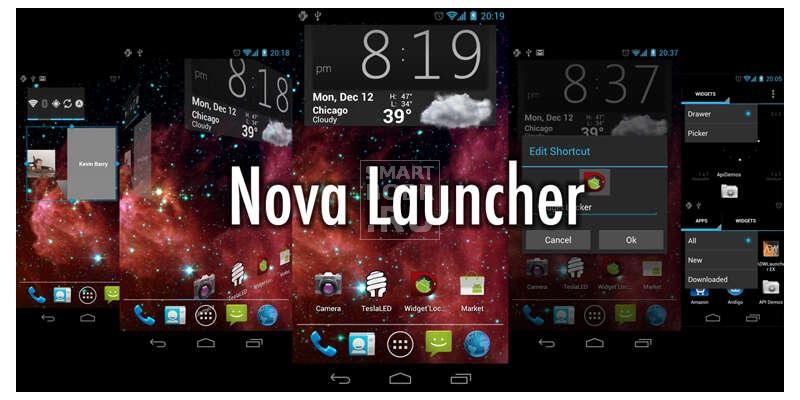 лучший лаунчер для Андроид Nova Launcher