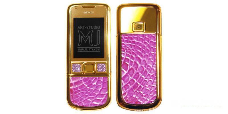 самые дорогие телефоны в мире Nokia 8800 Arte Pink Diamonds