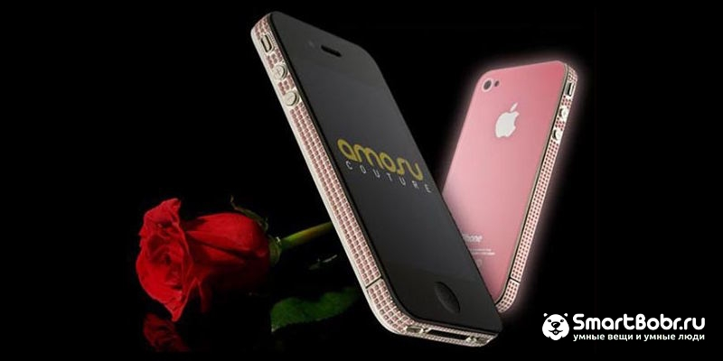 самые дорогие телефоны в мире iPhone 5 Diamond Rose Edition