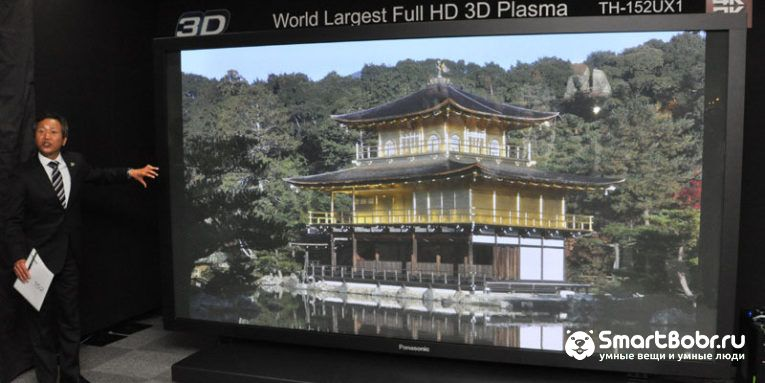 самый большой телевизор в мире Panasonic TH-152UX1