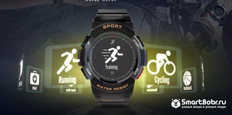2018 Top Sport Smart Watch No 1 F6 Flash Sale from Just 14 99 GearBest com
