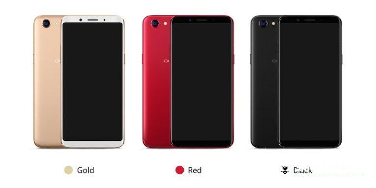 красные смартфоны Oppo F5
