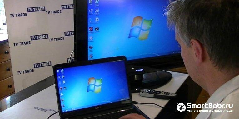 Как подключить телевизор Sony к ноутбуку