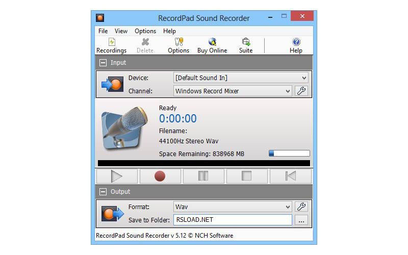как подключить микрофон к компьютеру RecordPad