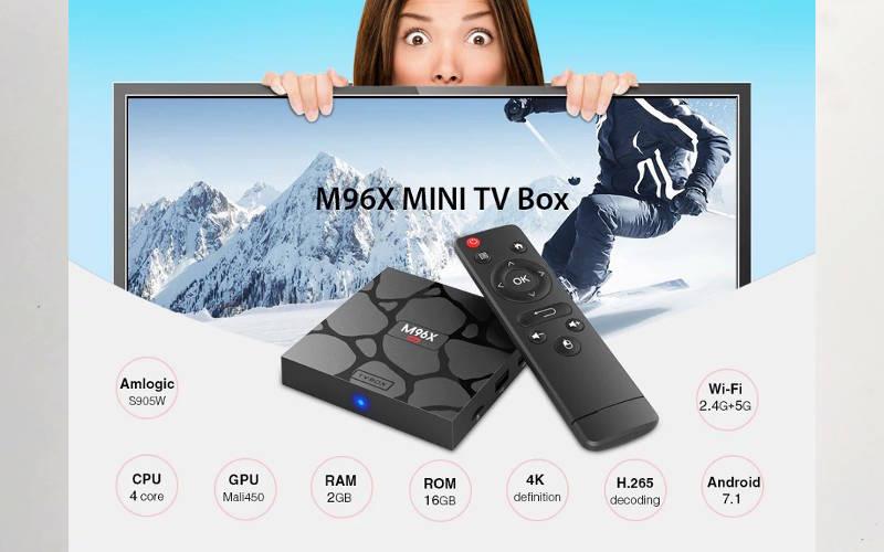 обзор андроид тв приставки M96X MINI