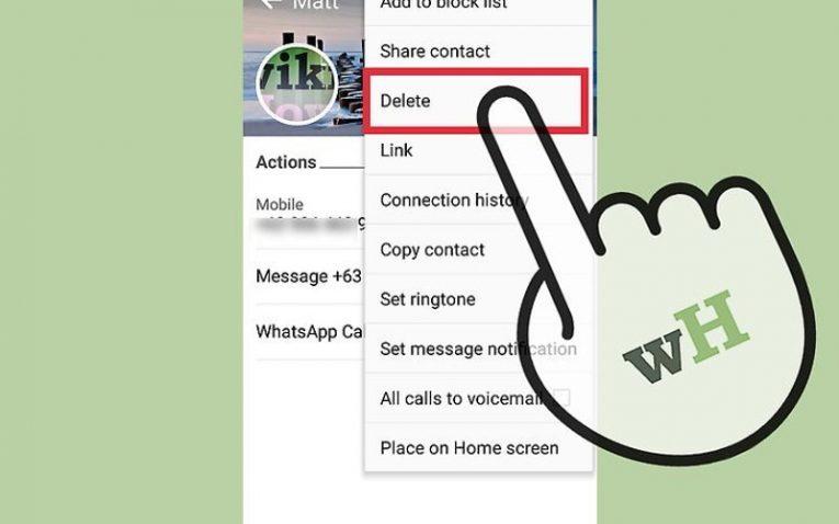 как удалить контакт с телефона