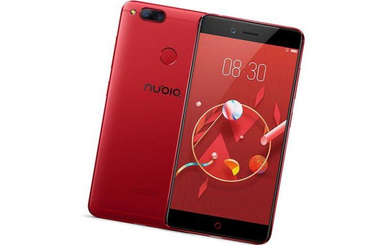 красные смартфоны ZTE Nubia Z17 mini