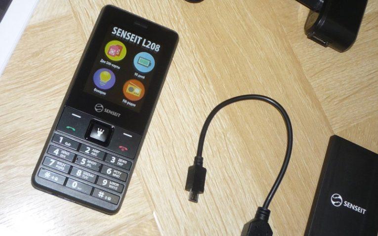 лучшие телефоны для пенсионеров SENSEIT L208