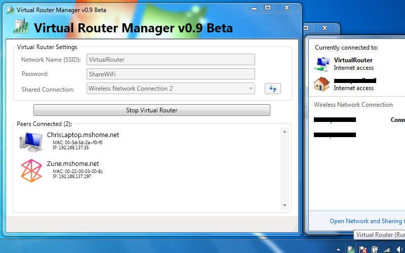 как раздать Интернет через WiFi с ноутбука с помощью Virtual Router