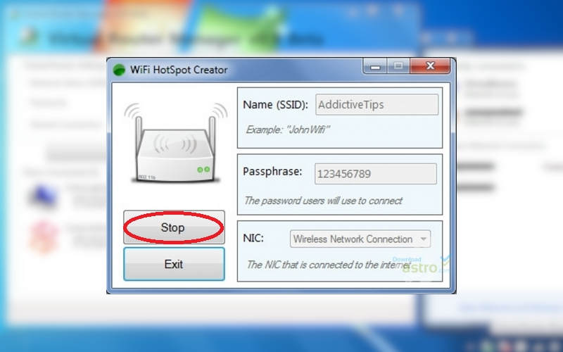 как раздать Интернет через WiFi с ноутбука с помощью WIFI Hotspot Creator