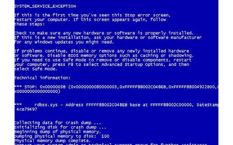 код ошибки Windows 7