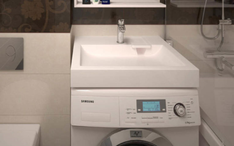 стиральная машина с раковиной