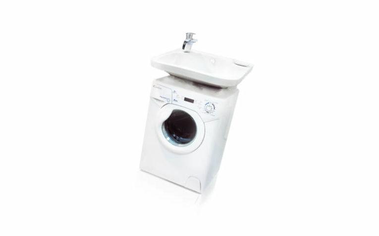стиральная машина под раковину в ванной комнате Candy Aqua 100F + Кувшинка-Виктория