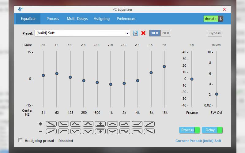 эквалайзер для windows PC Equalizer