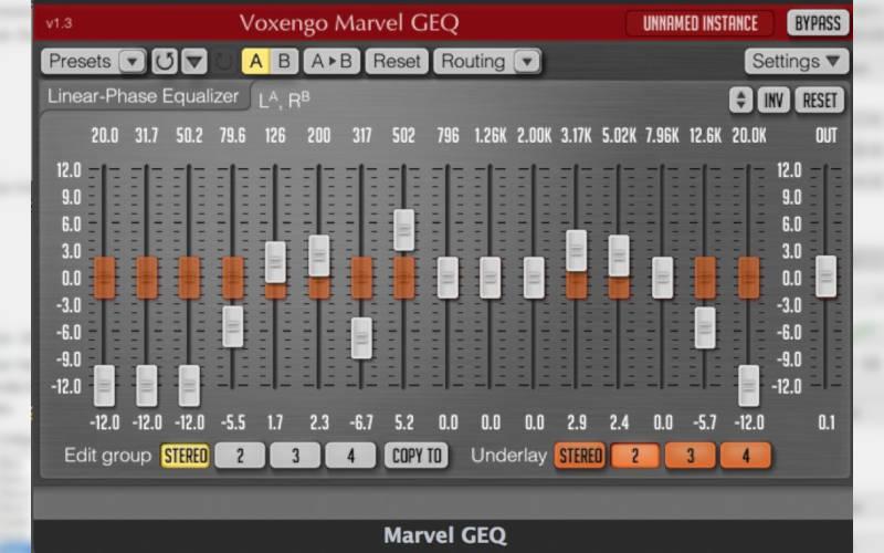 эквалайзер для windows Voxengo Marvel GEQ