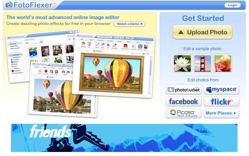 фоторедактор онлайн FotoFlexer