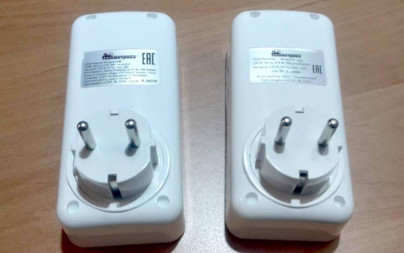 GSM-розетки telemetrica t40 и t20