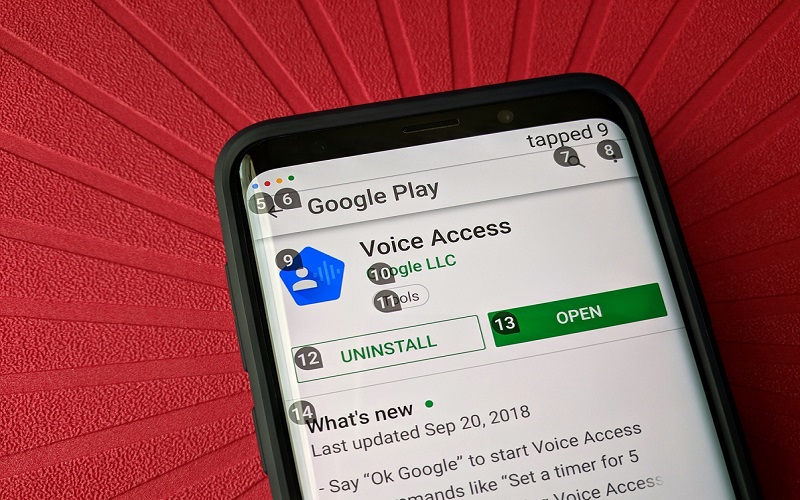 google-voice-access-running-play-store-listing