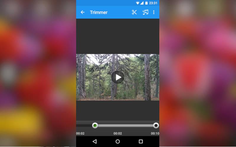 приложение для видеомонтажа на Android телефонах VidTrim