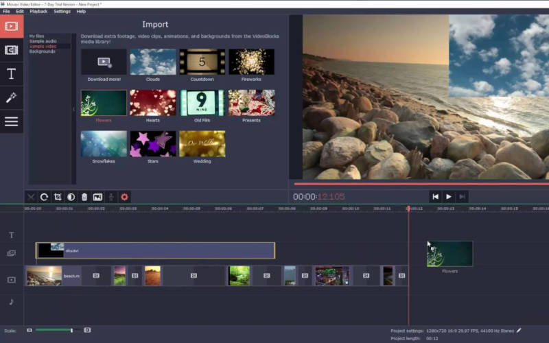 простые редакторы для Windows Movavi Video Editor