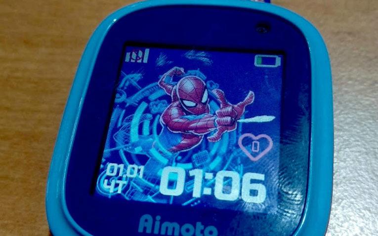 умные часы с GPS Aimoto Кнопка Жизни Человек-Паук