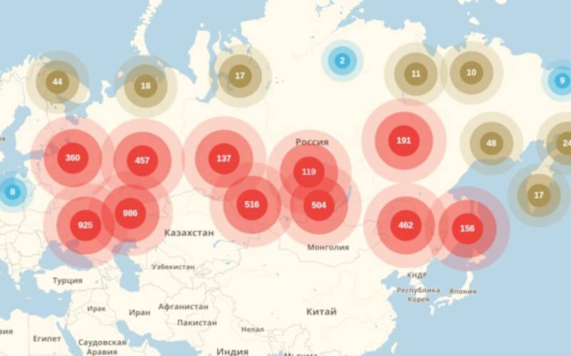 карта покрытия цифрового ТВ в России