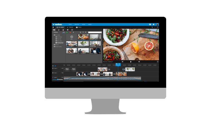 редактор видео онлайн WeVideo