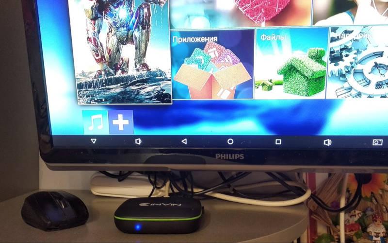 Обзор Android ТВ-приставки Invin IPC-002 - лаунчер