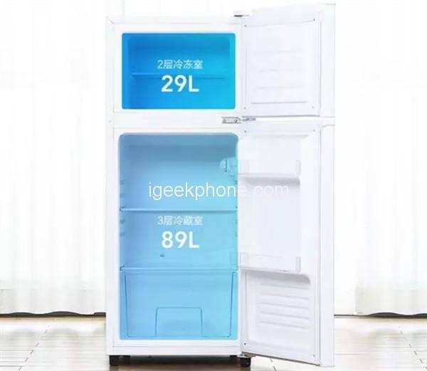 Yunmi-118L-Double-Door-Refrigerator-2