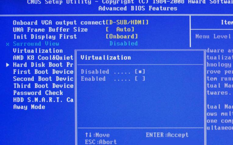 как включить виртуализацию для AMD
