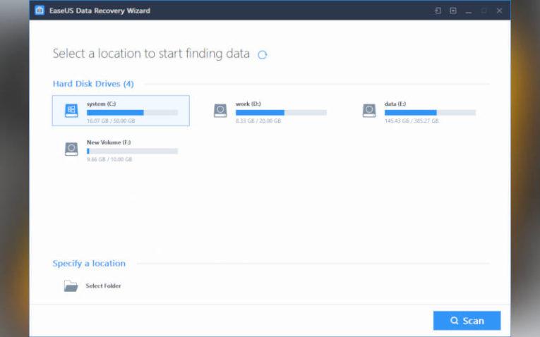 как восстановить данные с помощью EaseUS Data Recovery Wizard
