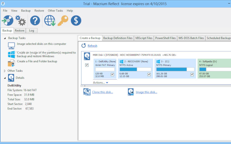 перенос Windows 10 на SSD - с помощью Macrium Reflect