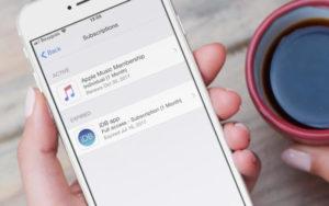 как отключить платные подписки на iPhone