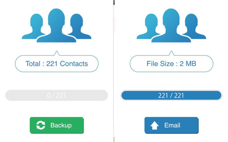 как перенести контакты с айфона на андроид с помощью My Contacts Backup