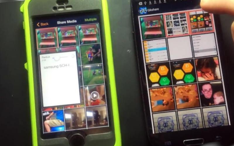 как перенести контакты с айфона на андроид с помощью Qikshare