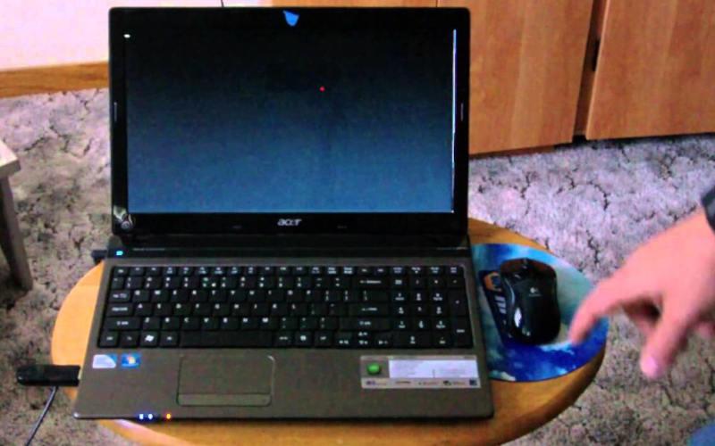 черный экран laptop