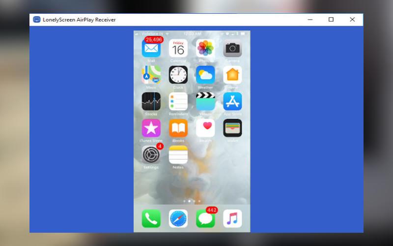 запись экрана на Айфоне в Windows LonelyScreen AirPlay Receiver