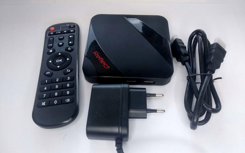 комплектация Reflect TV Box ZX 2.16