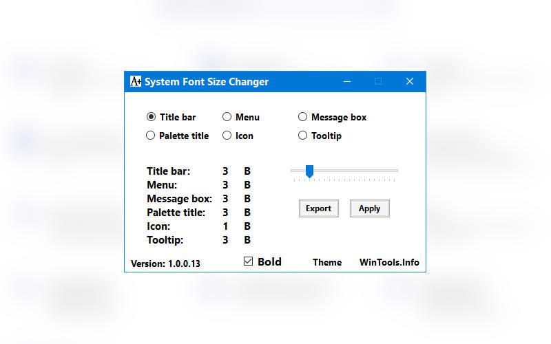как поменять шрифт в Windows